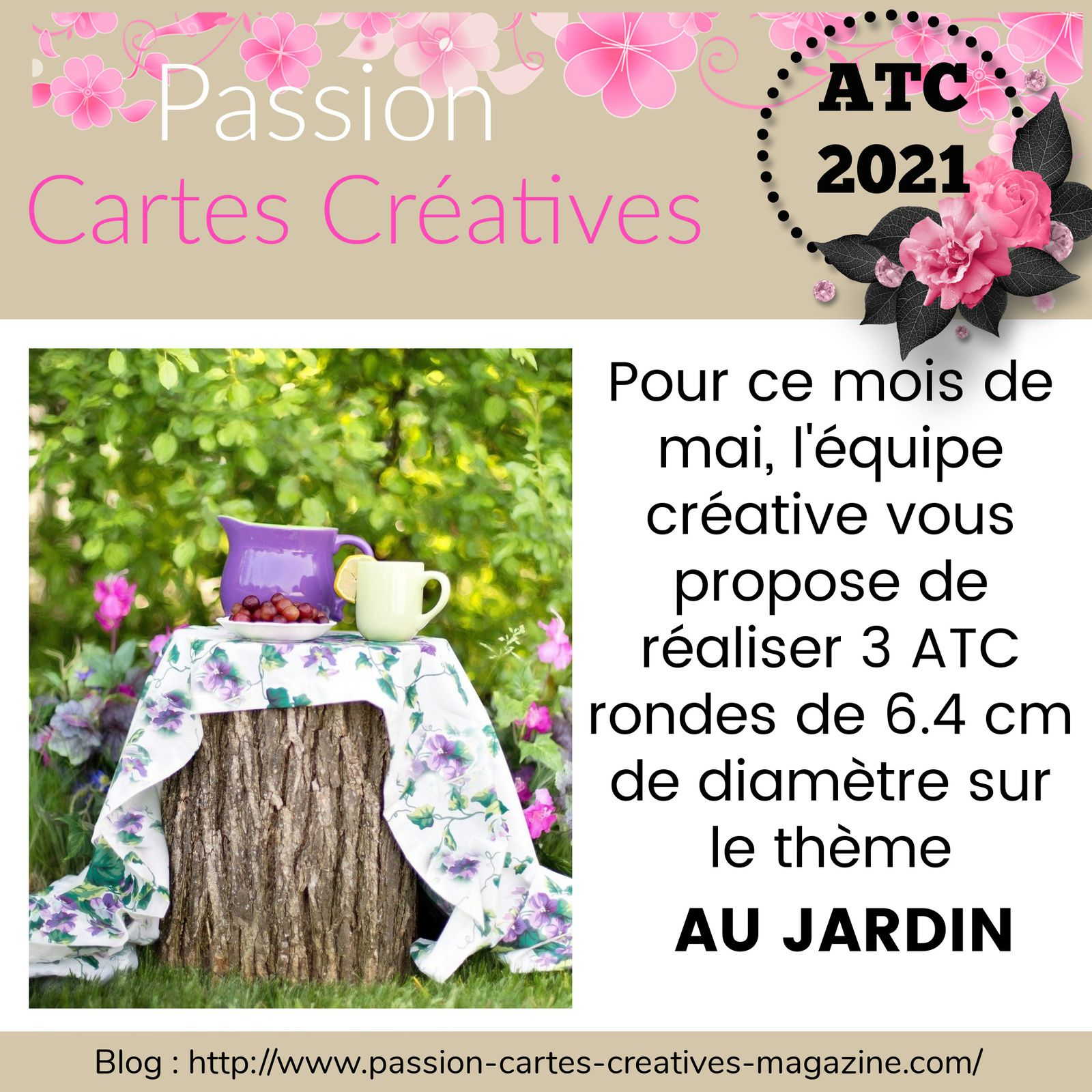 ATC de mai de Passion Cartes Créatives