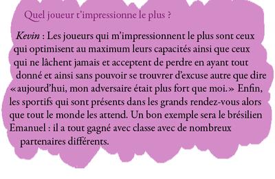 Interview 2011 : Les autres joueurs (1)