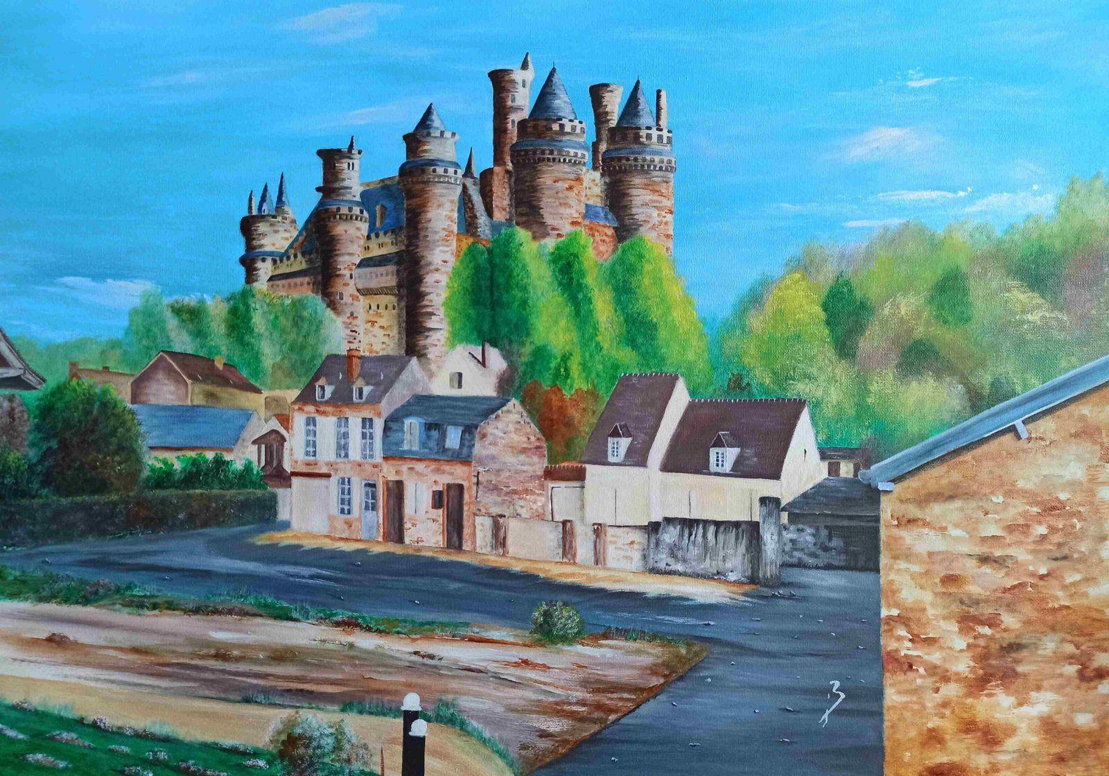Château de Pierrefonds - acrylique sur toile - taille : 70x50 cm - Disponible