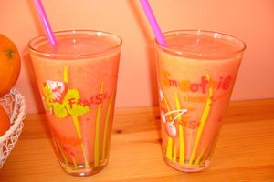Smoothie fraise/fruits exotiques