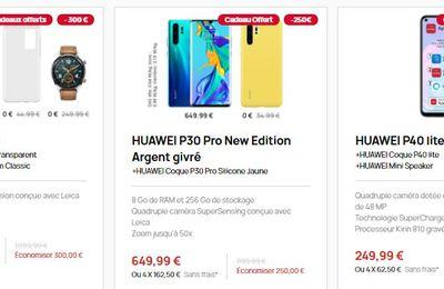 Mobile : HUAWEI propose des promos canon jusqu'au 6 janvier 2021