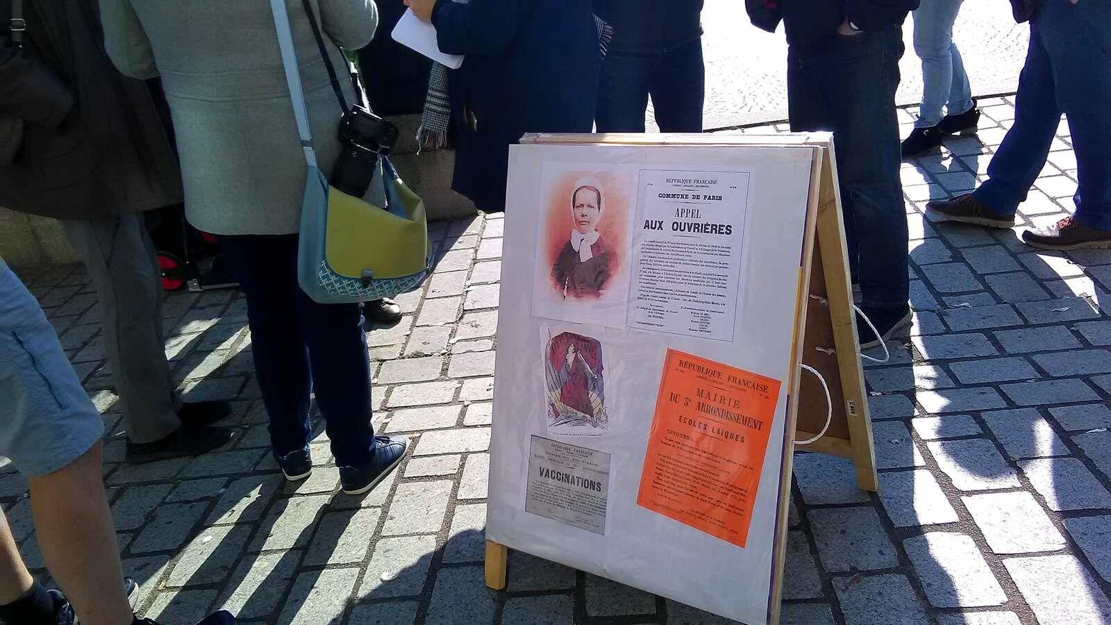 6 mars: Quimper - photos de l'hommage du PCF à Nathalie Lemel - Discours d'Yvonne Rainero