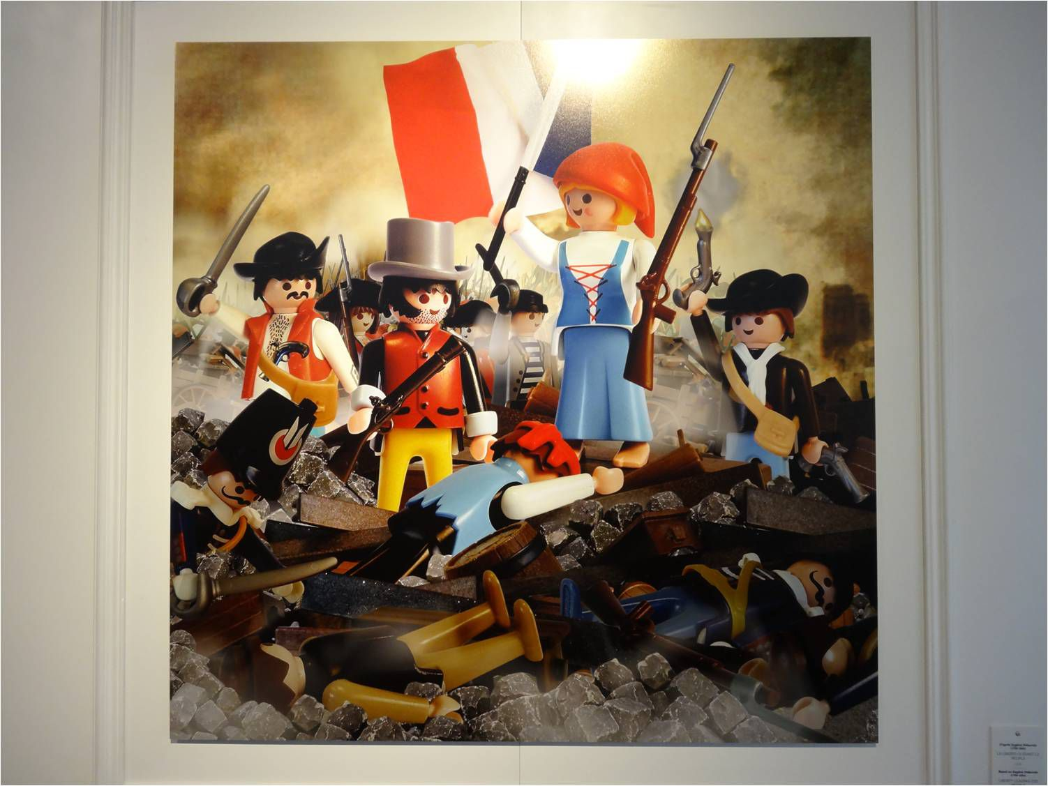 La liberté guidant le peuple, d'après Delacroix