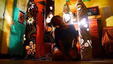 Yasmine, artiste peintre et sculpteur malgache