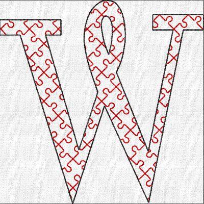 Alphabet puzzle: la lettre W