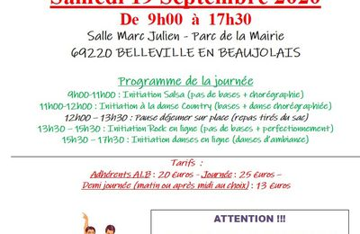 Stage d'initiations de danses latines