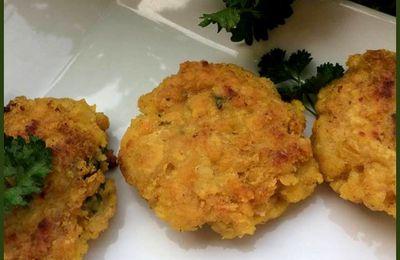 Croquettes de lentilles corail au curry (sans gluten)