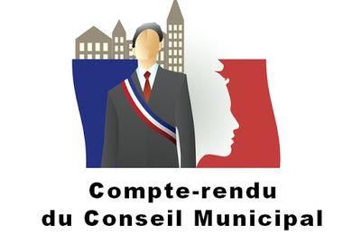 Compte-rendu du Conseil Municipal du 13 septembre 2021