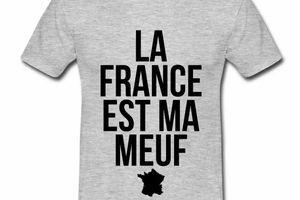 T shirt France Humour La France est ma meuf HGR