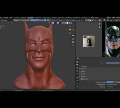 Sculpter la tête de BATMAN dans Blender 2.8