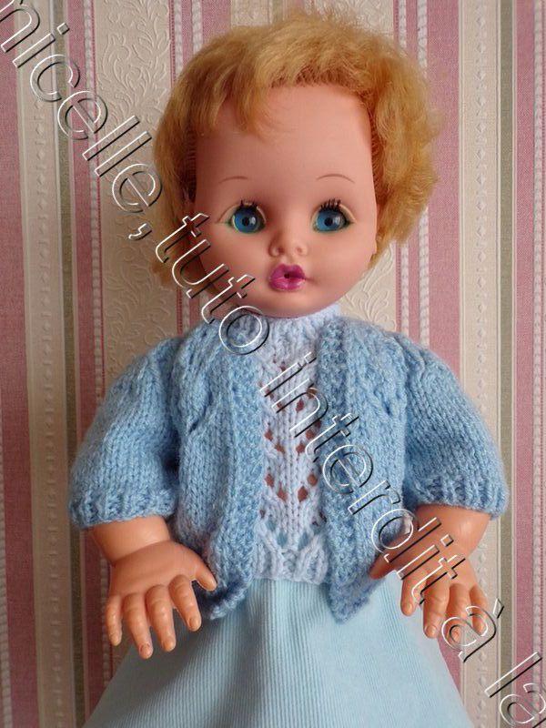 tuto gratuit  poupée  : veste ajourée