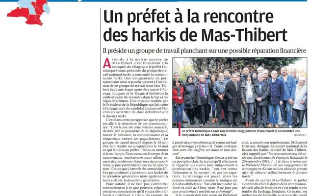Un préfet à la rencontre des harkis de Mas-Thibert (13)