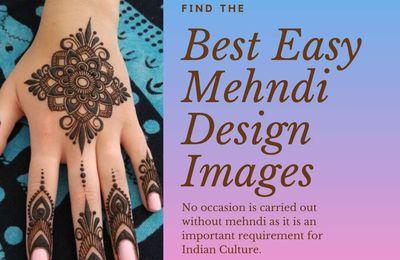 Top 25 Best Easy Mehndi Design Images
