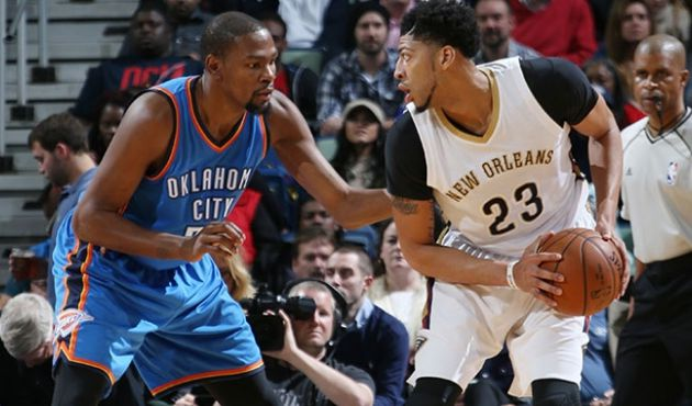 New Orleans survit aux 76 points du duo Durant-Westbrook