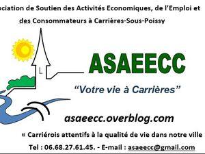 L'ASAEECC c'est de la Publicité gratuite pour toutes les activités économiques et les associations à Carrières-sous-Poissy !