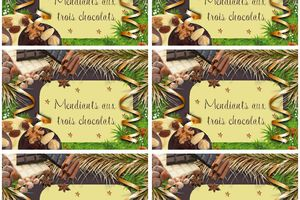 etiquettes Mendiants aux trois chocolats