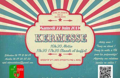 SAVE THE DATE !! KERMESSE SAMEDI 22 JUIN  2019 !!