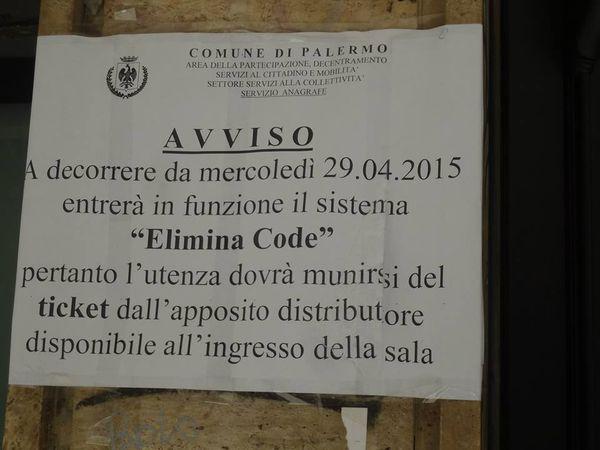 """Il Comune di Palermo, con il sistema """"elimina code"""" si modernizza, ma rimane sempre un passo indietro"""