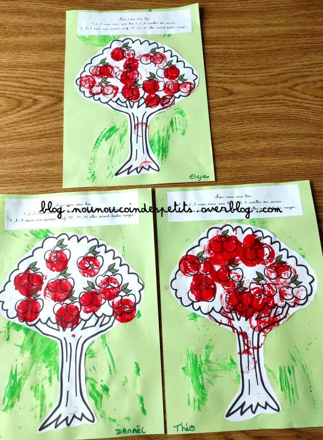 .. Bricolage enfant Le cerisier ..