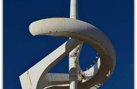 La colline de Montjuic et le stade olympique de Barcelone ...