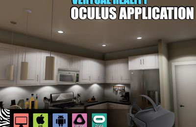 Interactive virtual reality apps development Kitchen Design for Oculus Device VR, Tampa - Florida