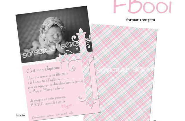 Catalogue faire part/invitation BAPTÊME