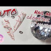 TUTO | nail art géométric gel | marbré
