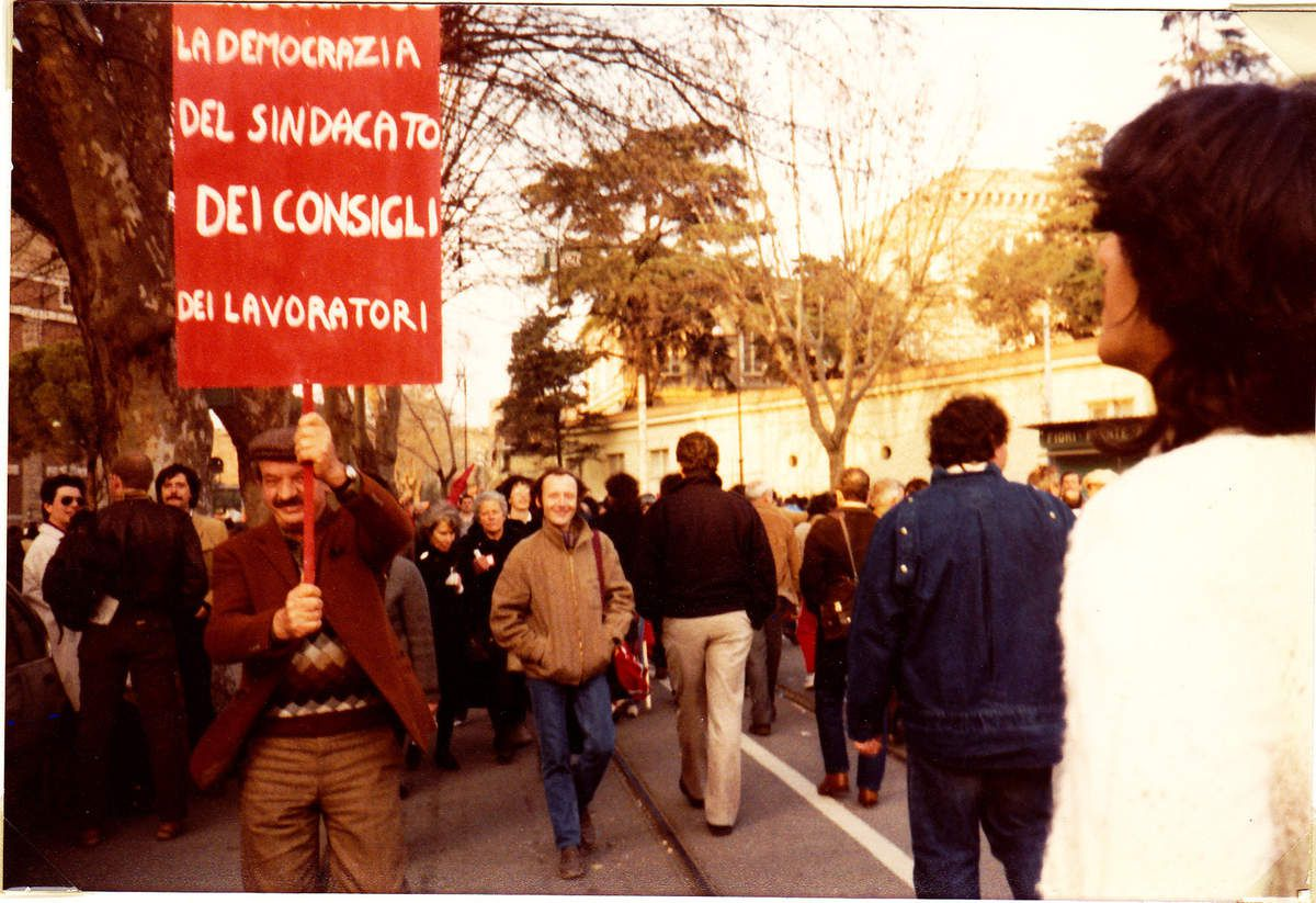 ROME, 1984, 1 million de manifestants avec la CGIL et le PCI