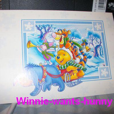 Carte Bourriquet, Winnie et Tigrou