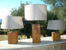 Lampes en pin laricio