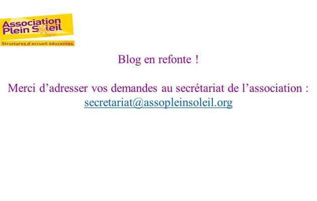 Blog en refonte.