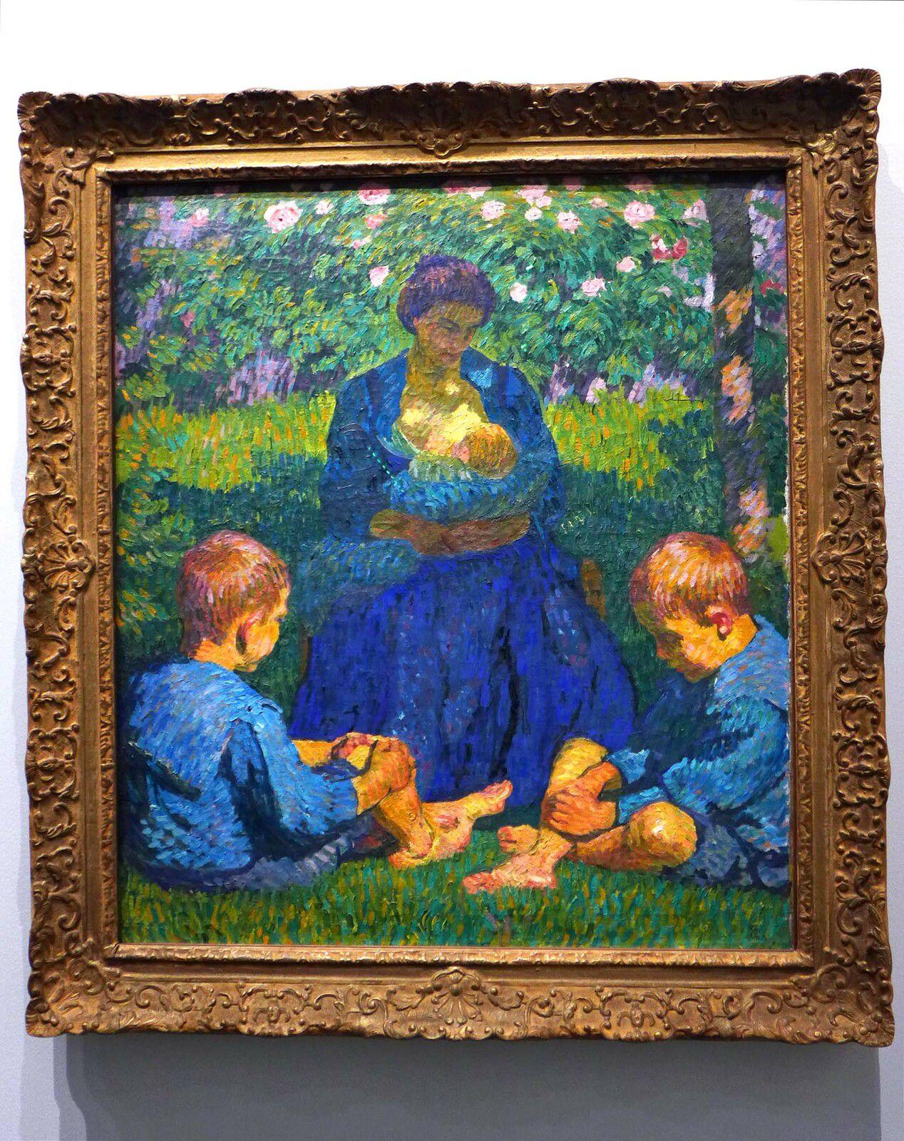 Giovanni GIACOMETTI, Maternité (1908), huile sur toile. Suisse, collection Dr. Blocher.