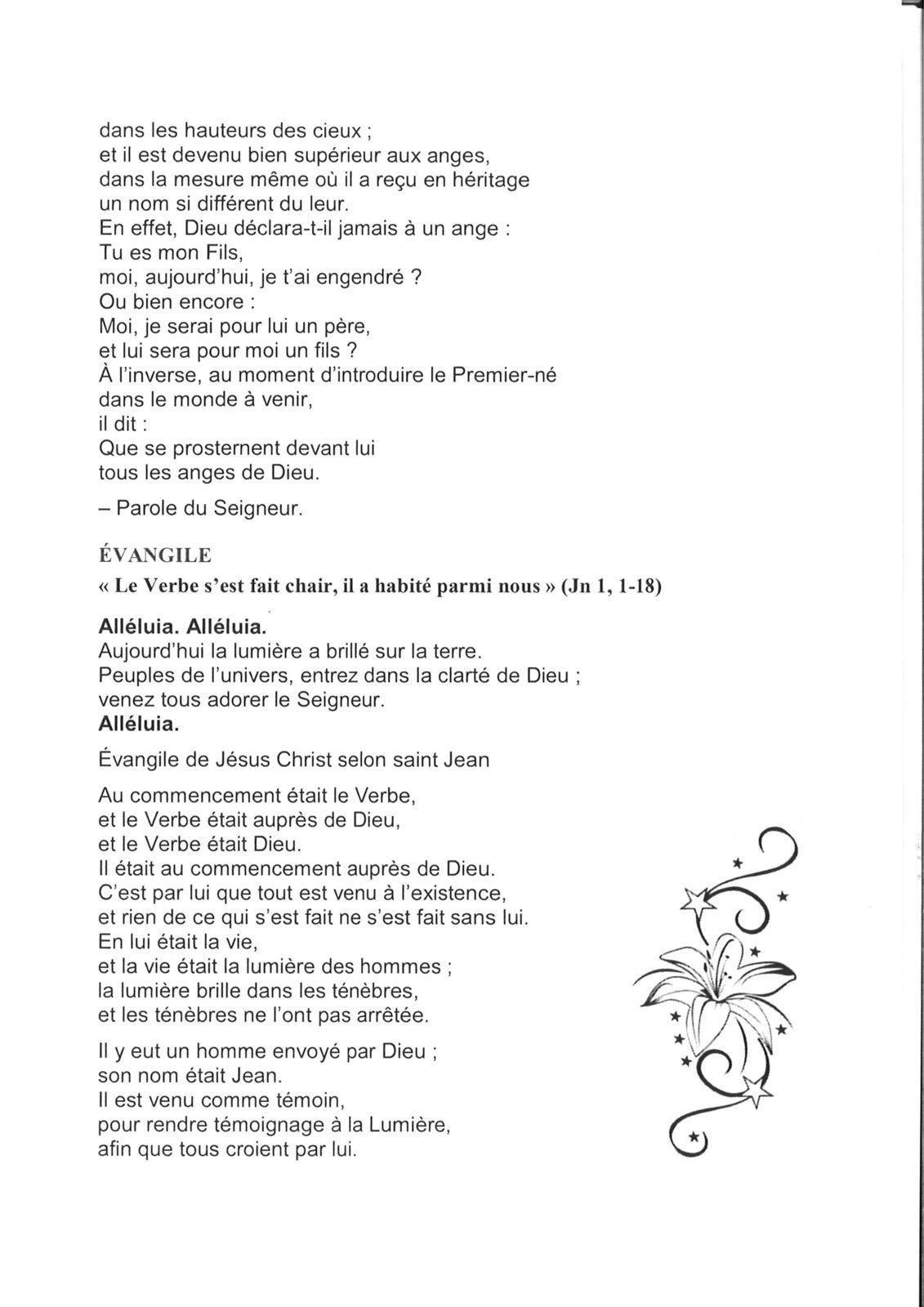LIVRET DE L'AVENT : Jour de Noël