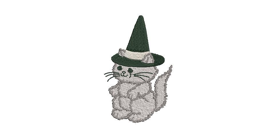 BRODERIE CHAT HALLOWEEN