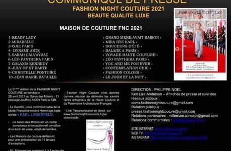 FNC PARIS 2021 : COMMUNIQUÉ DE PRESSE !