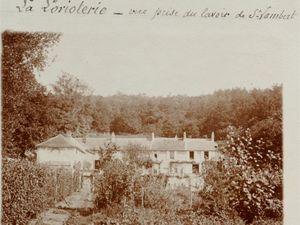 """Milon-la-Chapelle - La Lorioterie, le potager - le  Lavoir de Saint-Lambert - Postée en 1911 le Chemin Jean Racine - La Lorioterie commune de Milon-la-Chapelle en bas du coteau le bief """"Ruisseau de Port-Royal""""."""