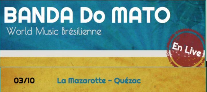 Concert Banda do Mato à Quézac