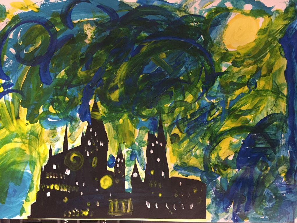 Inspiration van Gogh / Harry Potter art enfant sur charlotteblablablog