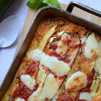 Gratin de riz courgettes et mozzarella #végétarien