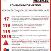 Dispositifs d'alerte, d'écoute, d'accompagnement et d'orientation des victimes de violences conjugales et intrafamiliales en période de confinement COVID-19 - mairiecapvern.com