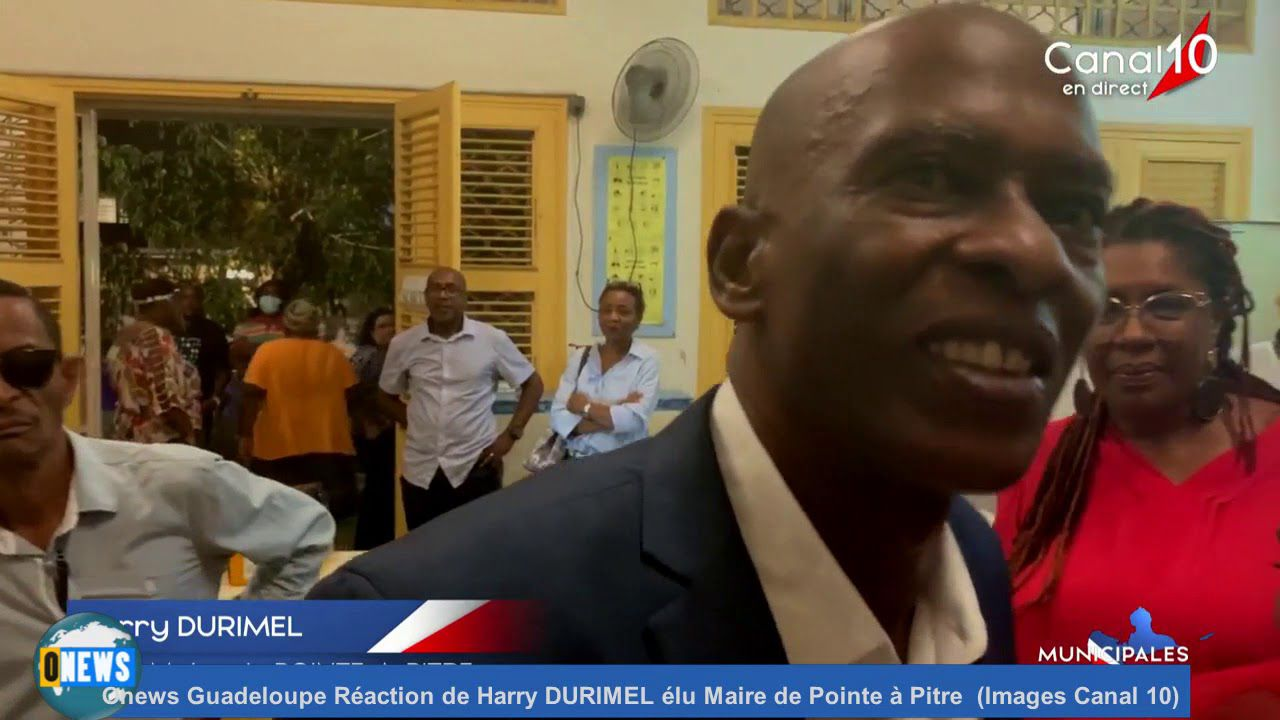 1) Harry Durimel, nouveau maire de Pointe-à-Pitre.