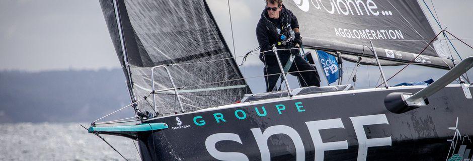 Xavier Macaire, 5ème à Dunkerque, 2e du classement général provisoire  «Encore une belle étape de Solitaire du Figaro!»