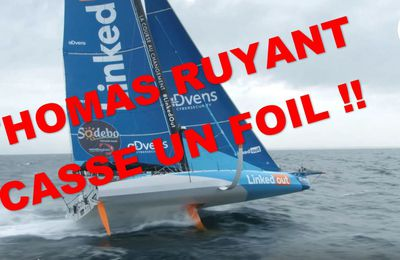 Vendée Globe 2020 - Thomas Ruyant (LikedOUT) casse un foil !!