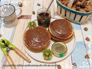 Pancakes au skyr et graines de chia