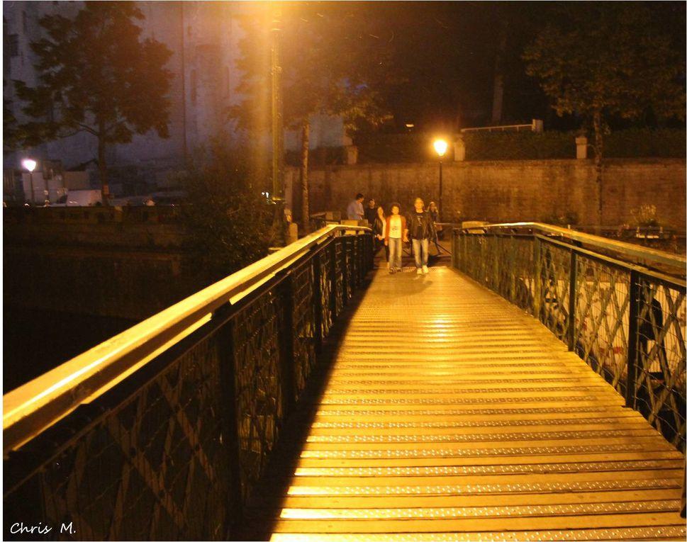 Les ponts de Niort éclairés