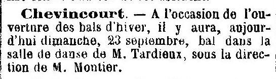 Album - le village de Chevincourt (Oise), au fil des mois au cours des années 1800 et 1900
