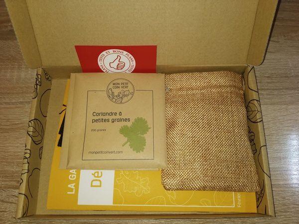 unboxing box de jardinage Mon Petit Coin Vert @ Tests et Bons Plans