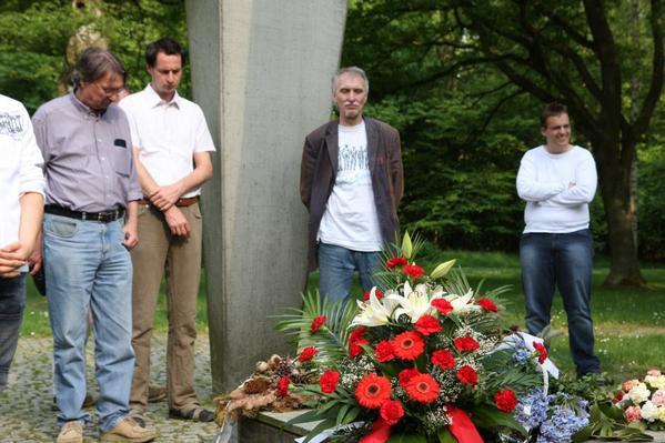 Kranzniederlegung am 15.05.2008.
