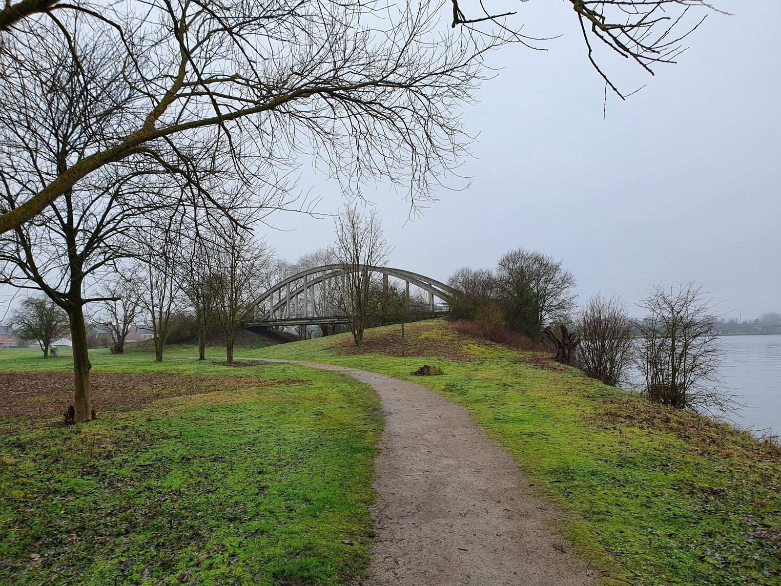 Le pont blanc, île aux Saules, Billy-Berclau