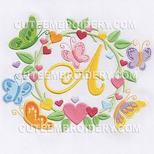 "Alphabet ""Cadre Valentine"" complet ."